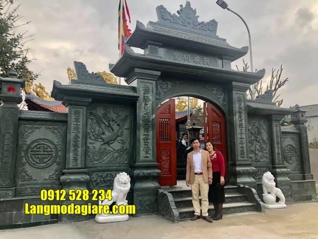 mẫu cổng đá nhà thờ họ đẹp nhất tại Hưng Yên