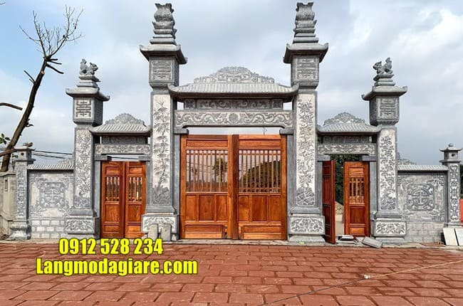 mẫu cổng đá nhà thờ họ đẹp tại Hà Nam