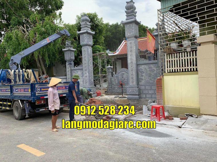 Mẫu cổng đình chùa đẹp bán tại Long An