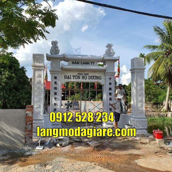 Mẫu cổng đẹp tại Trà Vinh bằng đá