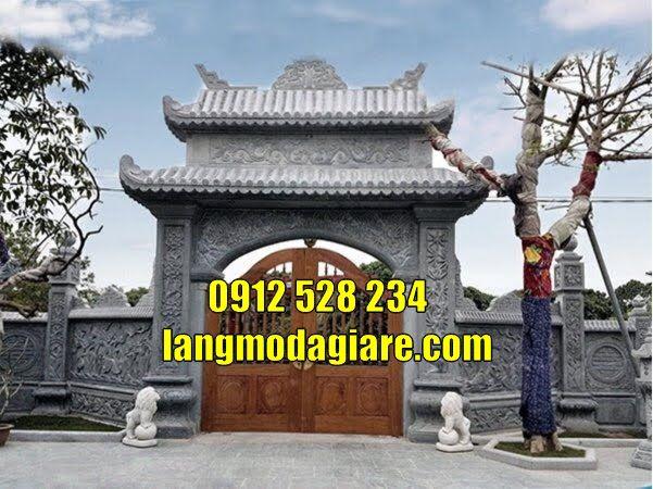 Mẫu cổng đình làng đẹp bằng đá bán tại Hải Phòng