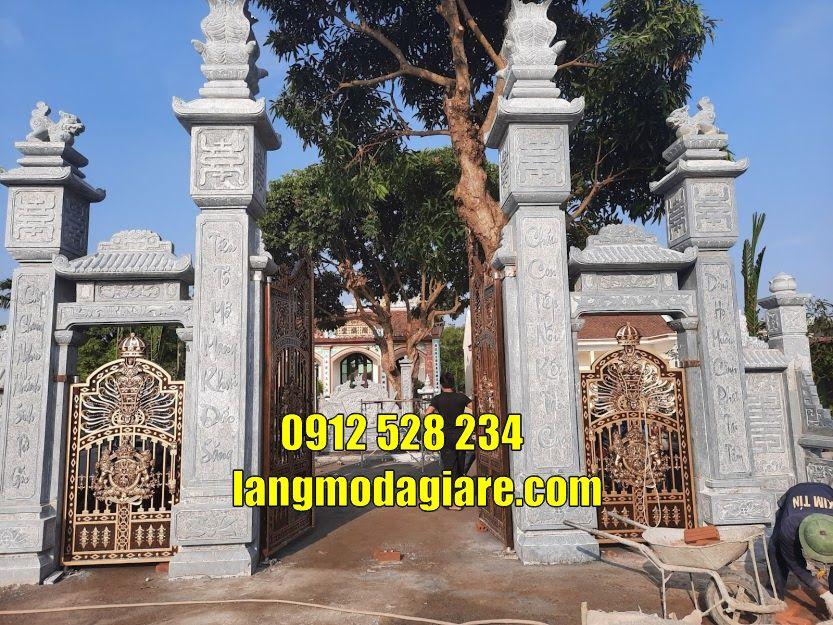 Mẫu cổng đình làng đẹp bằng đá bán tại huế