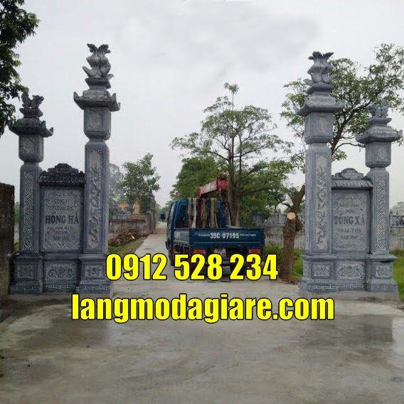 Mẫu cổng đình làng đẹp bằng đá bán tại quảng trị cổng đá tại quảng trị