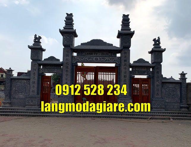 Mẫu cổng đình làng đẹp bằng đá xanh tại quảng trị