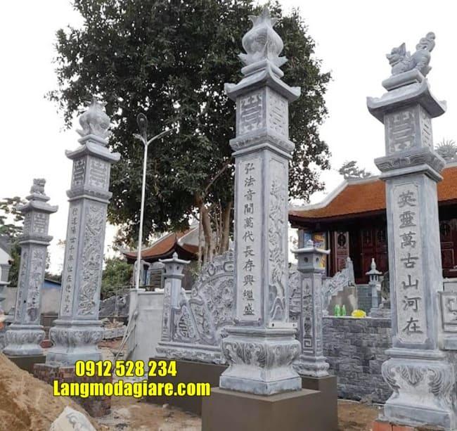 mẫu cổng nhà thờ họ bằng đá tại Hà Nam