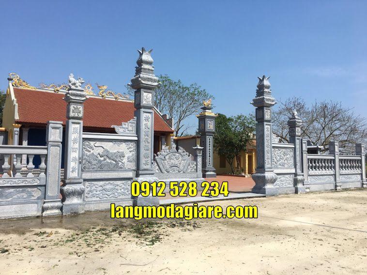 Mẫu cổng nhà thờ họ cổng từ đường đẹp bằng đá bán tại Hải Phòng