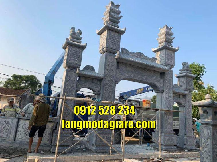Mẫu cổng nhà thờ họ đẹp bằng đá tạiHà Nam cổng làng đẹp tại Hà Nam