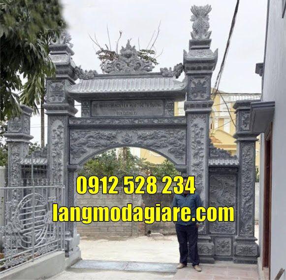 Mẫu cổng nhà thờ họ đẹp bằng đá tại  quảng ninh cổng làng đẹp tại  quảng ninh