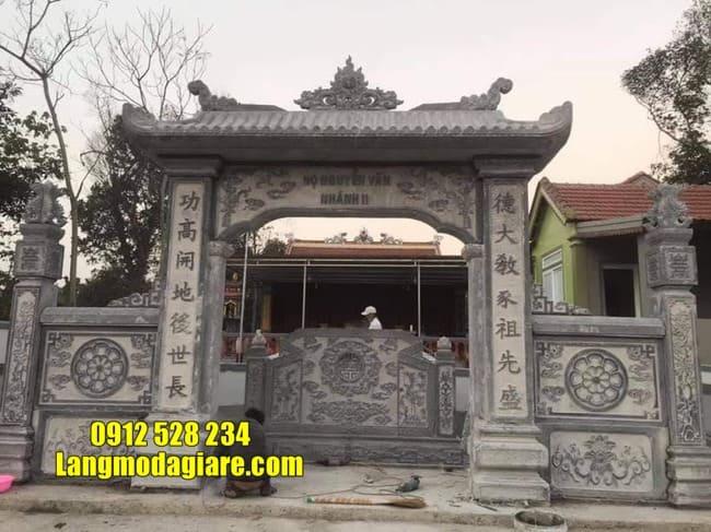 mẫu cổng nhà thờ họ đẹp tại Hà Nam