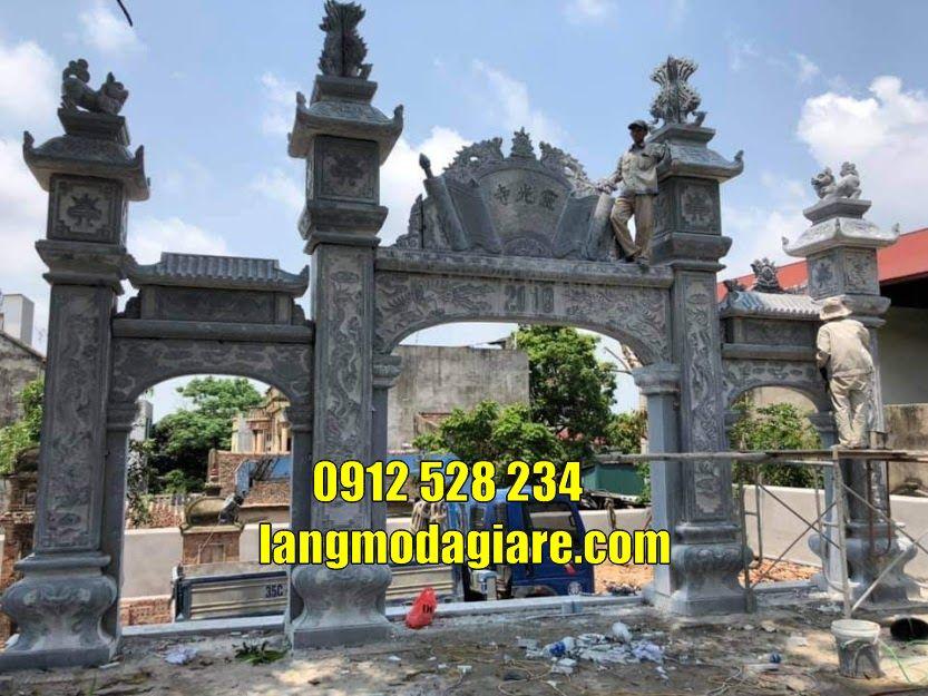 Mẫu cổng nhà thờ họ nhà từ đường đẹp bằng đá bán tại hà tĩnh