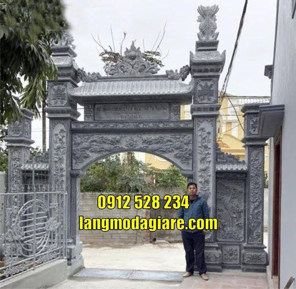 Mẫu cổng nhà thờ họ từ đường đẹp bằng đá thanh Hóa bán tại Hải Dương