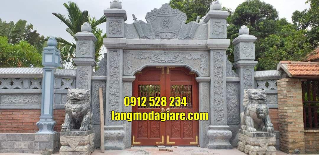Mẫu cổng đá tam quan đẹp bán tại Trà Vinh