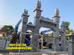 mẫu cổng tam quan bằng đá tại Bắc Ninh