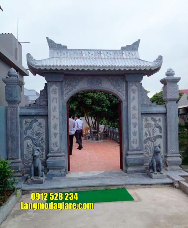 mẫu cổng tam quan bằng đá tại Vĩnh Phúc đẹp nhất