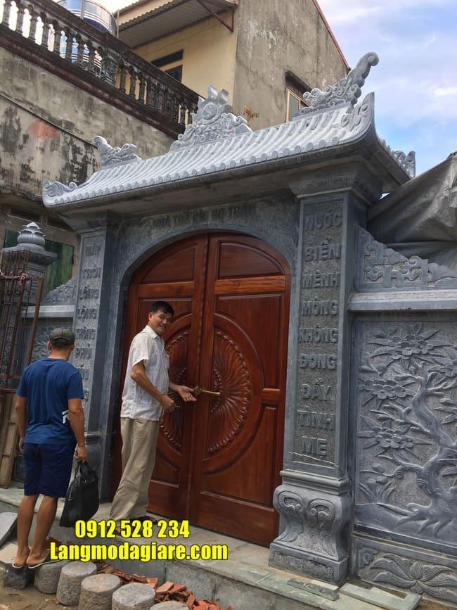 mẫu cổng tam quan bằng đá tại Vĩnh Phúc đẹp