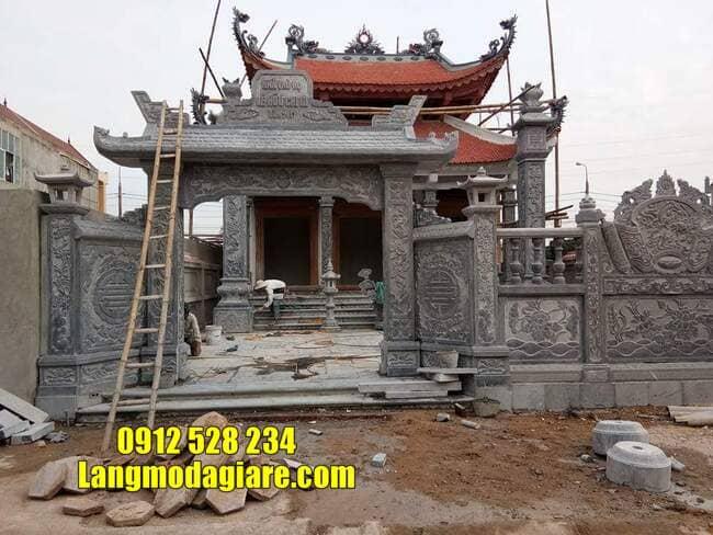 mẫu cổng tam quan đá tại Vĩnh Phúc đẹp nhất