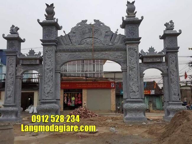 mẫu cổng tam quan đá tại Vĩnh Phúc đẹp