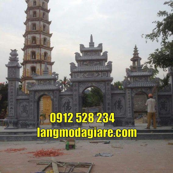 Mẫu cổng tam quan đẹp bán tại Long An