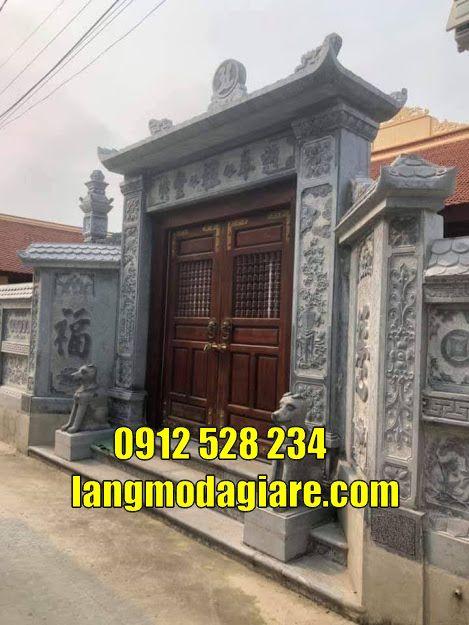 Mẫu cổng tam quan đẹp bằng đá giá rẻ bán tại Tiền Giang Cổng chùa
