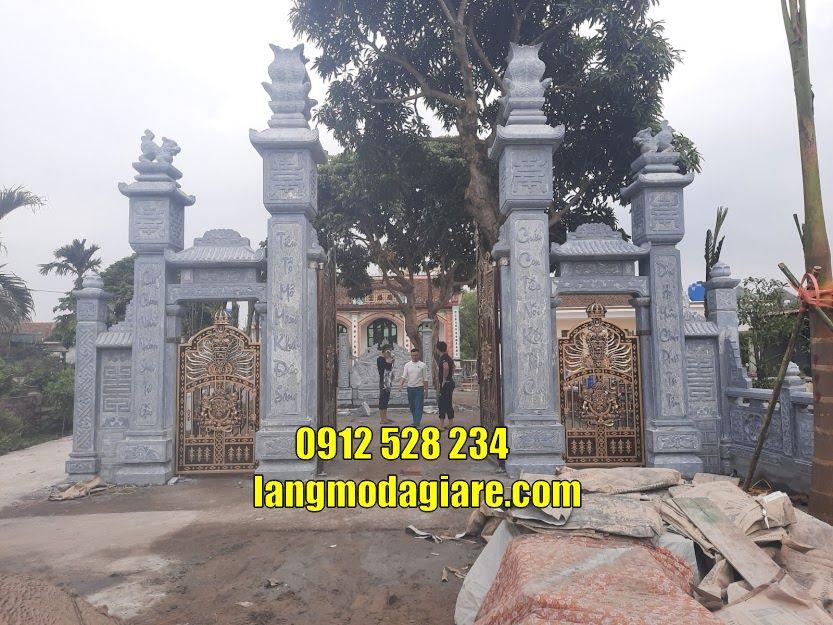 Thiết kế các mẫu cổng tam quan cho đình chùa bán tại Long An bằng đá