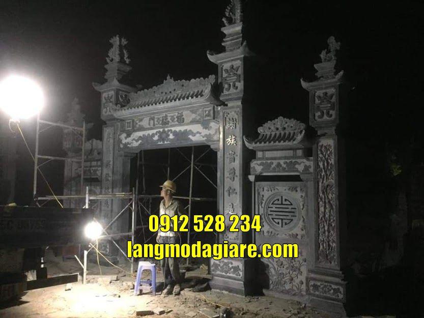 Cơ sở bán mẫu cổng đình chùa đẹp kiểu tam quan tại Bình Phước uy tín chất lượng