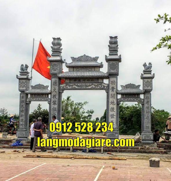 Cổng tam quan chùa bán tại Bình Phước bằng đá khối