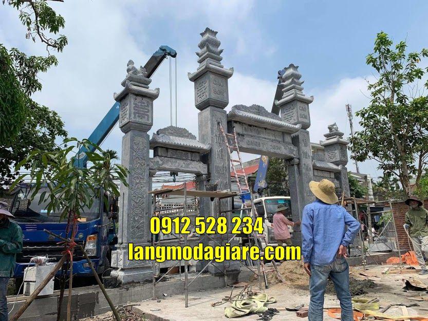 Mẫu cổng đá tam quan đẹp bán tại Đồng Nai