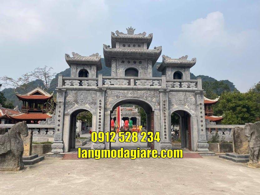 Mẫu cồng đình chùa đẹp bằng đá bán tại Bình Phước