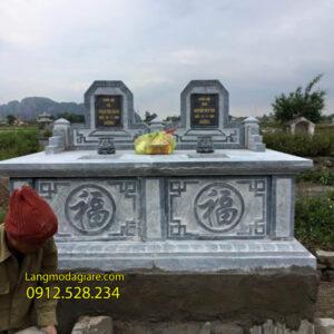 Mẫu mộ đôi bằng đá đẹp tại Đồng Tháp - Xây mộ đôi bằng đá