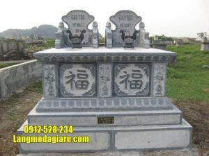 Mẫu mộ đôi đá đẹp tại An Giang - Mộ đá đôi đẹp nhất lắp đặt tại An Giang