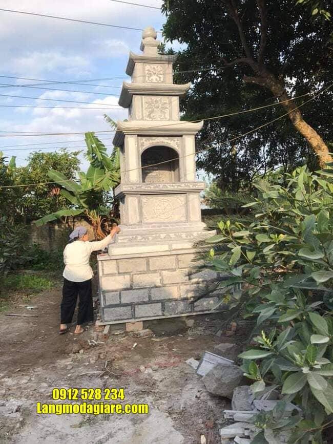 Mẫu tháp mộ bằng đá để hũ tro cốt tại Khánh Hòa
