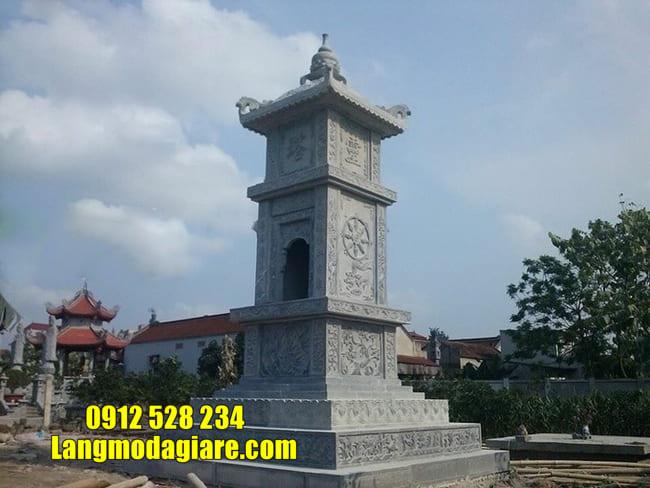 Mẫu tháp mộ đẹp để hũ tro cốt tại Khánh Hòa