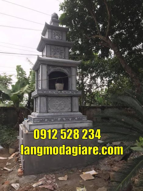 Mẫu tháp mộ phật giáo đẹp để tro cốt tại Sài Gòn Bảo tháp đá