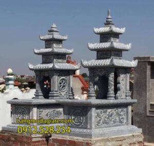 Mộ đôi đẹp nhất tại Hậu Giang - Mẫu mộ đôi bằng đá tại Hậu Giang
