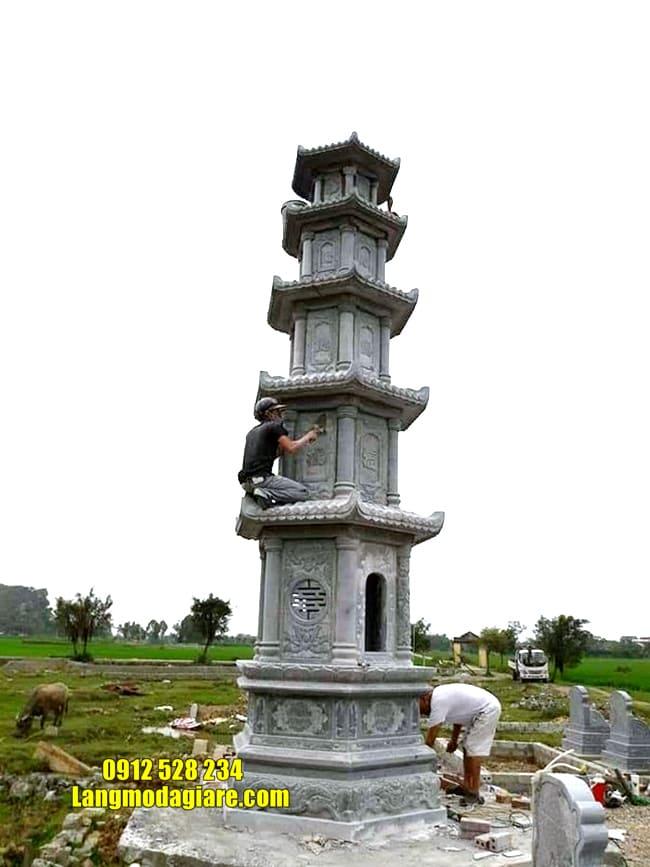 Tháp mộ đá đẹp để tro cốt tại Khánh Hòa