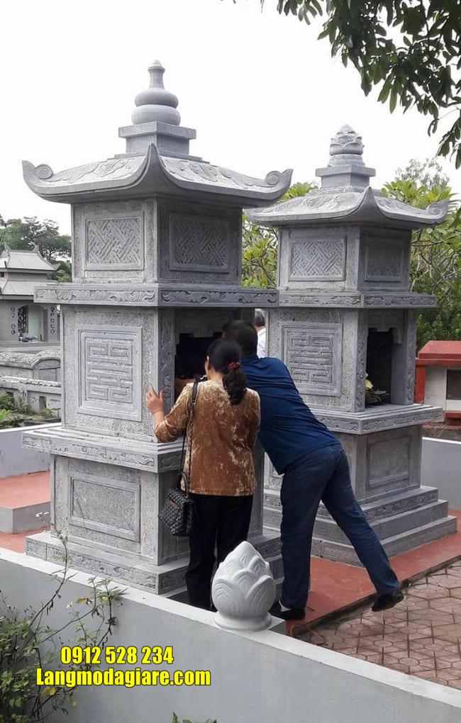 Xây tháp mộ đá tại Khánh Hòa