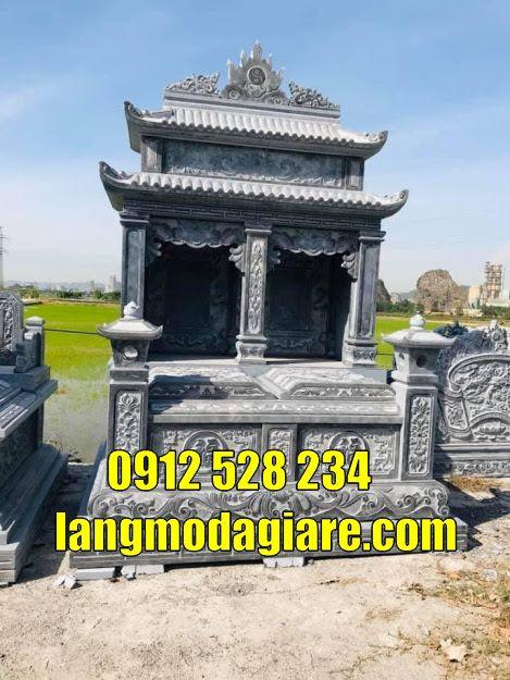 bán và lắp đặt mộ đôi hai mái bằng đá tại An Giang