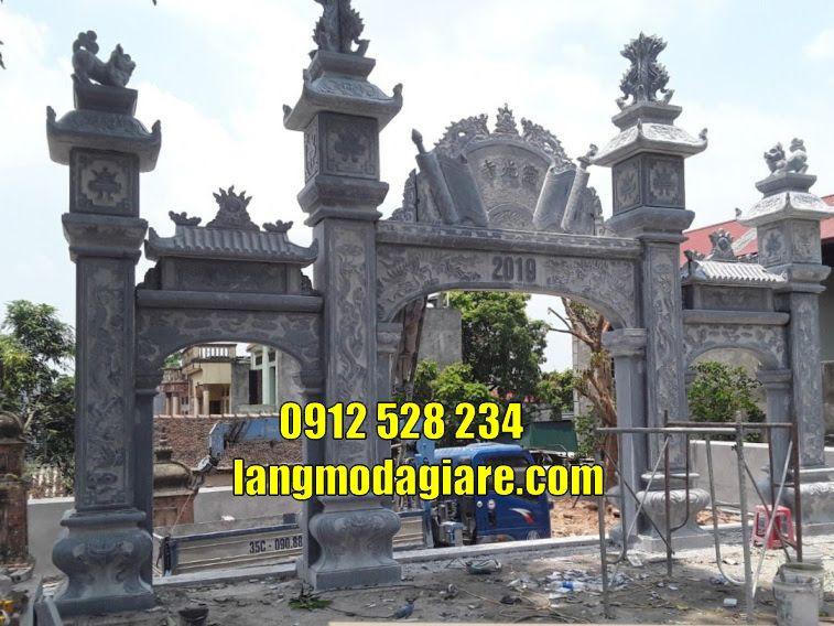 Mẫu cổng tam quan đẹp bán tại Bình Dương bằng đá Cổng chùa đẹp