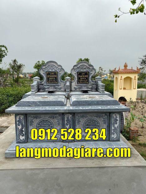 mẫu mộ đôi đơn giản bán tại Trà Vinh