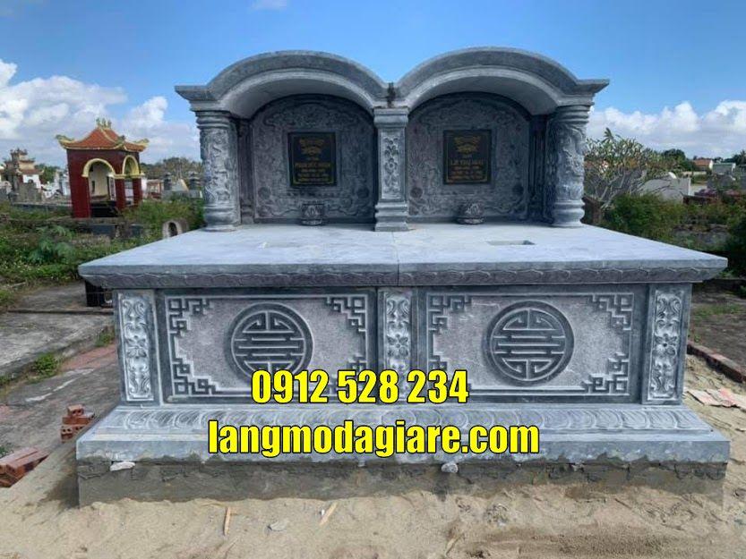 mộ đôi bằng đá giá rẻ tại Vĩnh Long