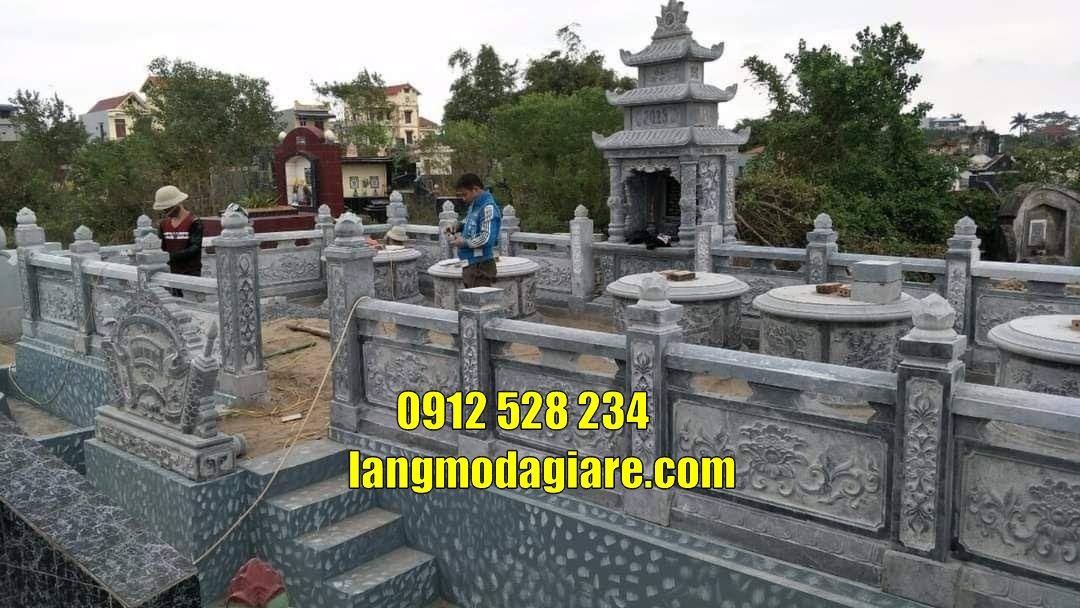Khu lăng mộ đá tại  Bắc Ninh khu mộ gia đình