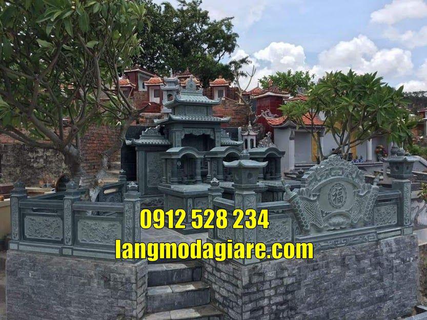 Mẫu lăng mộ gia đình bằng đá tại Bắc Ninh
