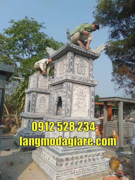bán và lắp đặt mẫu tháp mộ để hài cốt bằng đá tại Gia Lai- Tháp chuông
