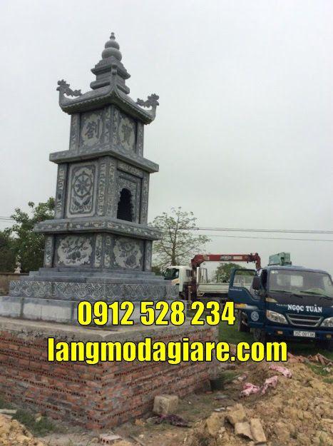 mộ tháp phật giáo bằng đá để tro cốt tại Gia Lai