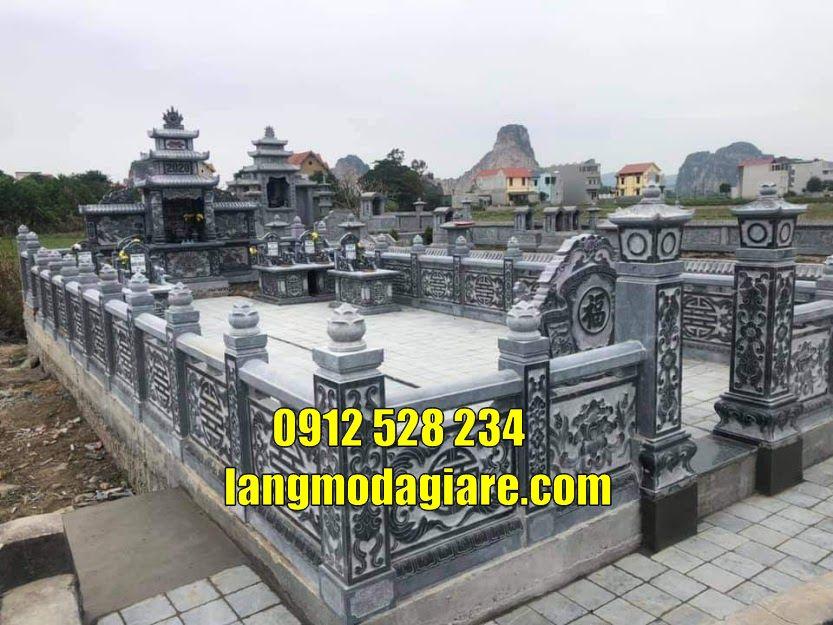 Khu lăng mộ bằng đá đẹp giá tốt tại Vĩnh Phúc