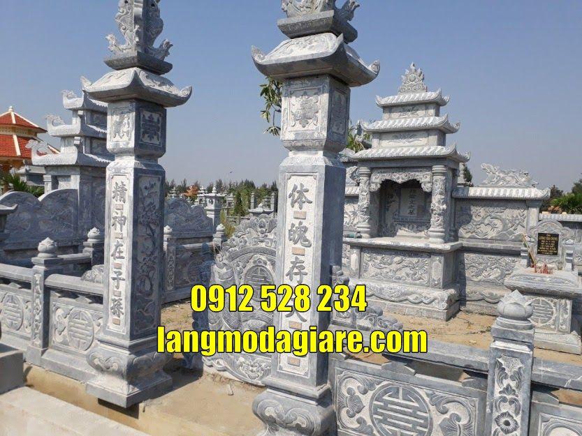 Khu lăng mộ đá đẹp bán tại Thái Bình Khu mộ gia đình