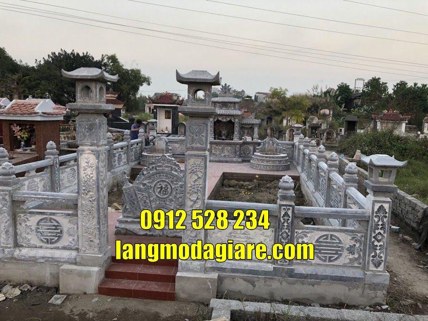 Khu mộ gia đình đẹp bằng đá bán và lắp đặt  tại Thái Bình