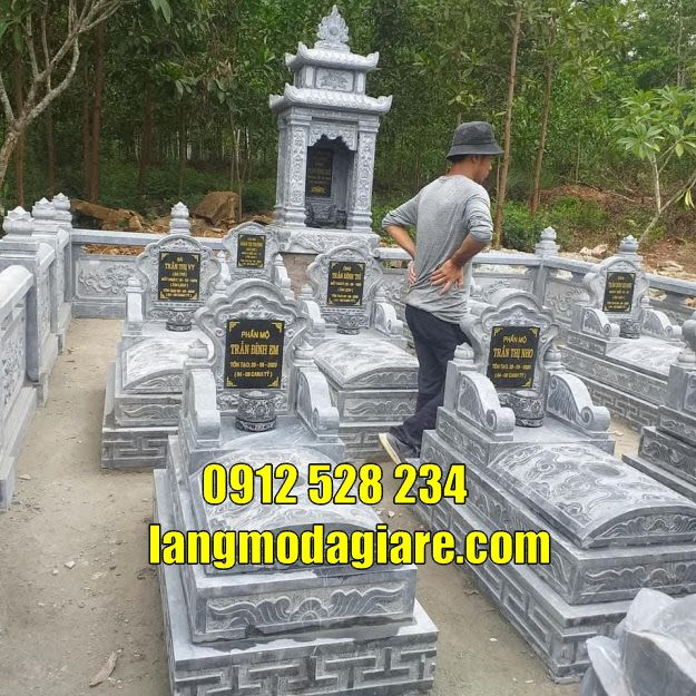Khu nhà mồ đẹp cất tro cốt bằng đá bán tại Cà Mau