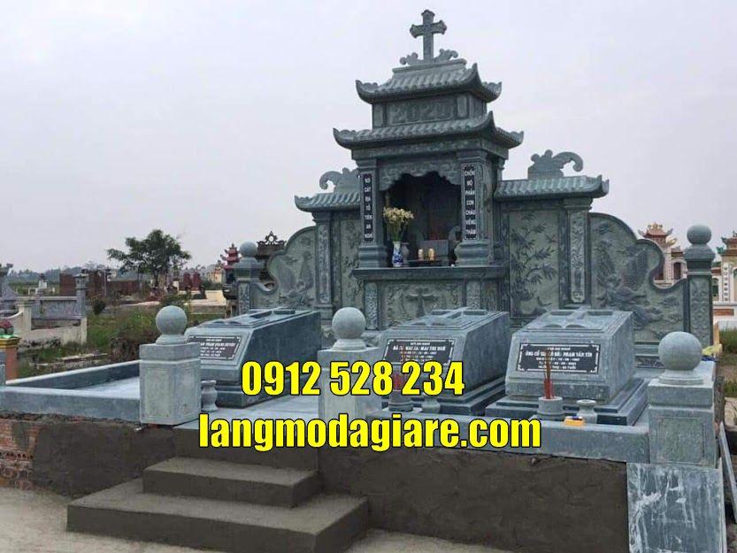 Lăng mộ đá đẹp tại Hải Dương mẫu mộ đẹp đơn giản tại Hải Dương
