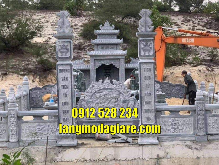 Mẫu lăng mộ đá đẹp bán tại Nam Định